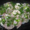 Мятный рис с рыбными рулетиками