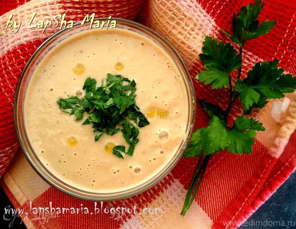 Суп из баклажана с запеченными томатами