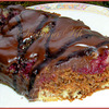 Шоколадно-вишневый кекс