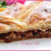 Слоеный пирог с карамельно-ореховой начинкой