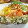 Пирог с кабачками, шпинатом и помидорами
