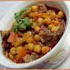 Горох нут с мясом и овощами