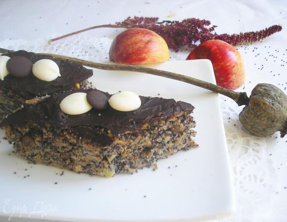 Маково-яблочный пирог