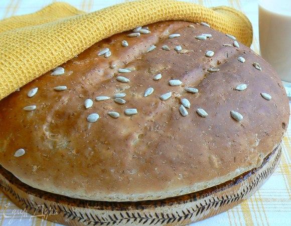хлеб с мультизлаковыми хлопьями, отрубями и семечками