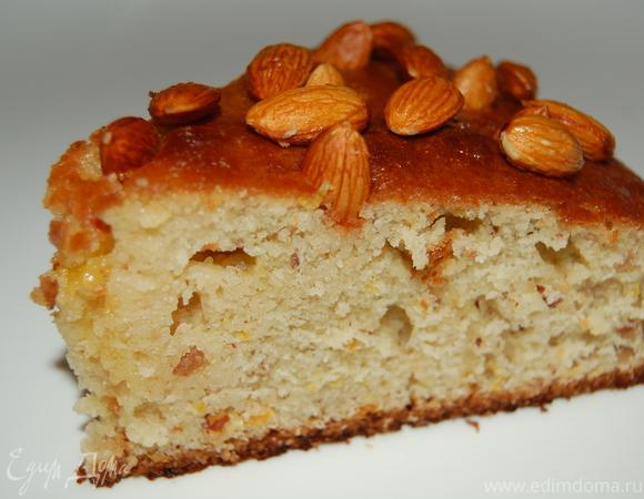 Пирог миндально-цитрусовый с медовой заливкой (по мотивам пирога от Джейми Оливера)