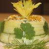 Салат из курицы с сельдереем в огурце