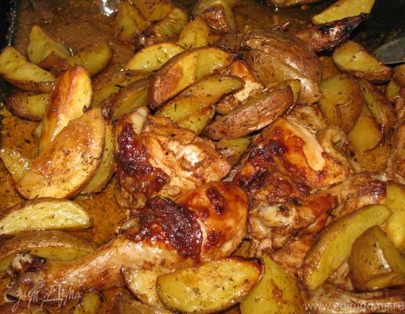 Курочка с картофелем