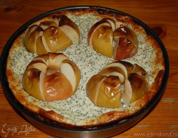Яблочно-творожный чизкейк с маком