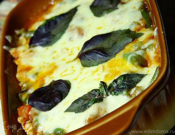 Филе грудки индейки, запеченное с овощами