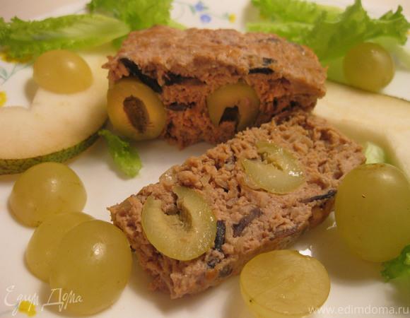 Паштет с фруктовым салатом