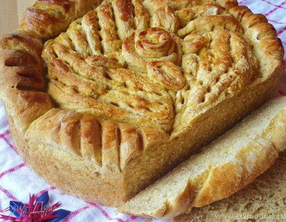 Хлеб-пирог с тыквой «Девчата»
