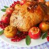 Хрустящая утка с печеными яблочками