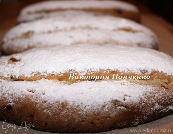 Штоллен — немецкий рождественский кекс (два способа формовки)