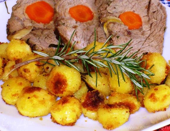 Картофель в панировочных сухарях