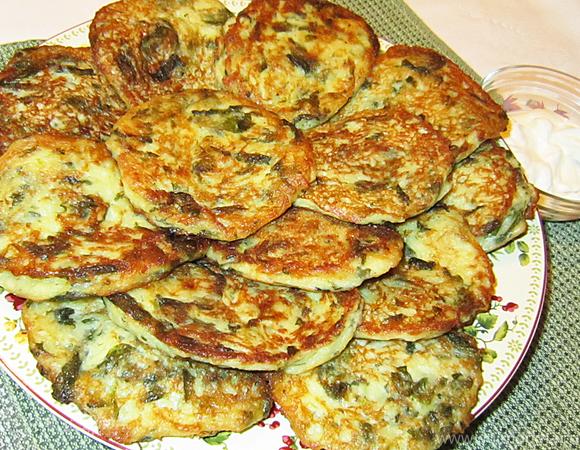 Картофельные котлетки с творогом и шпинатом