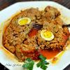 Мясная запеканка с грибами и перепелиными яйцами под сливочно-томатным соусом (Meat Loaf)