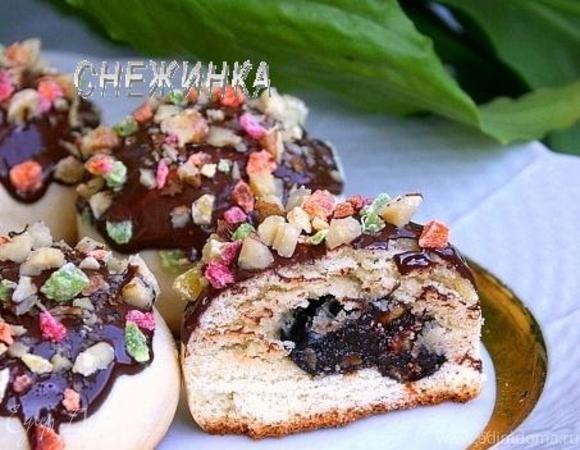 Печенье «Колобки» с начинкой из чернослива и кураги с грецким орехом