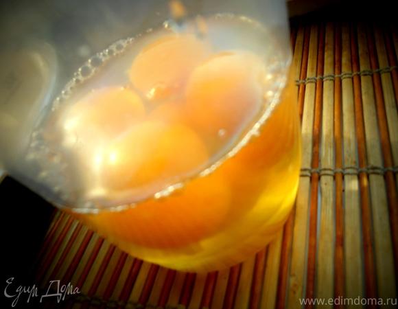 """Утренняя ватрушка """"Фруктовый коктейль в творожке"""" на песочном тесте"""