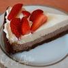 Пирог с клубникой, суфле и сливками (Strawberry cream pie)