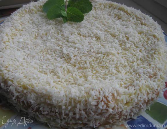 """Торт в кокосовой стружке """"Снежное облако"""""""