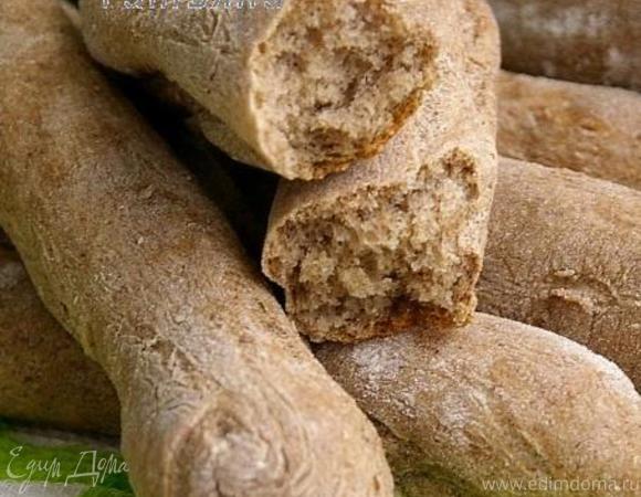 Хлебные палочки с льняной мукой (два варианта)