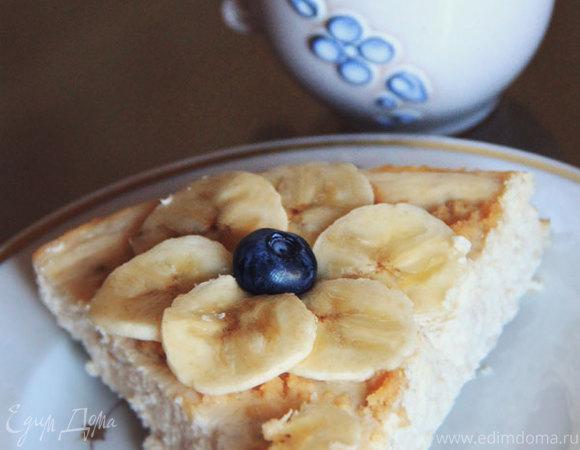 Творожно-банановый торт