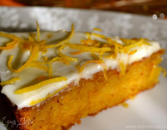 Глазированный апельсиновый пирог