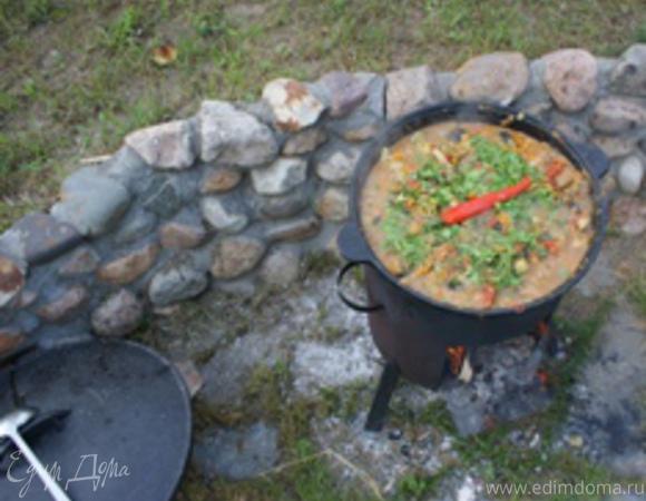 Рыбная лазанья с фенхелем и запеченным перцем