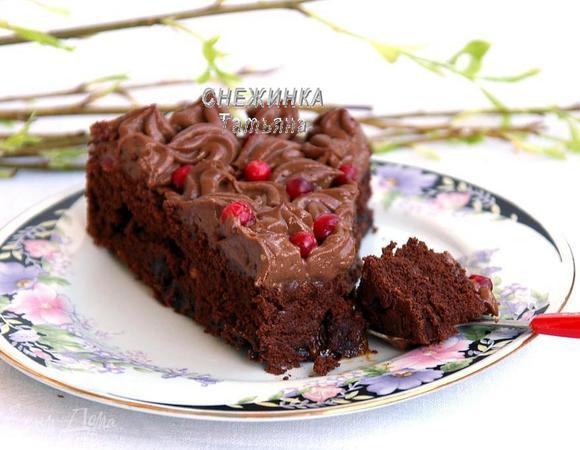 шоколадный торт простой рецепт без масла