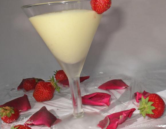Холодный крем сабайон с шампанским
