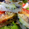 Пикантная овощная тартинка на слоеном тесте