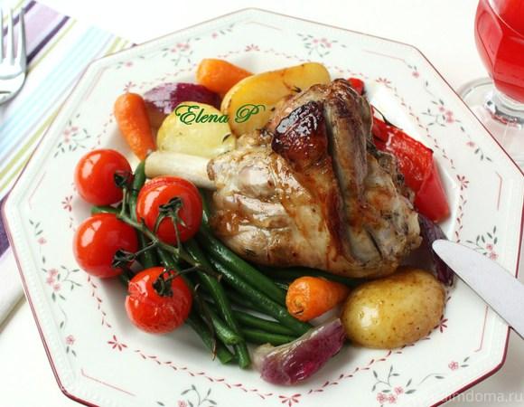 Голени барашка с овощами