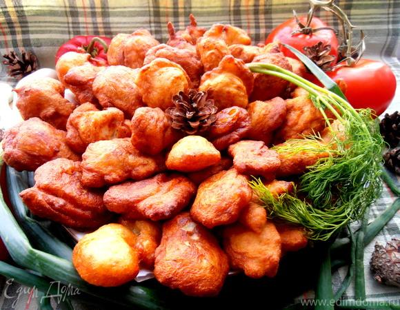 Заварные картофельные пончики, несладкий вариант для Ани Радуга