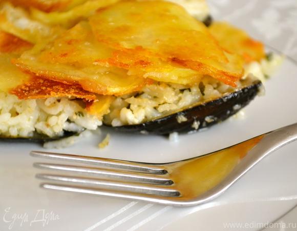 Фаршированные мидии, запеченные под картофельной корочкой (cozze riso e patate al forno)