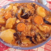Густой суп с баклажанами и картофелем