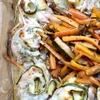Куриные творожные рулетики с цукини, запеченные с маринованной молодой морковью