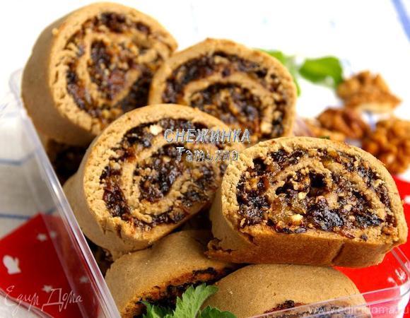 Ржаное печенье с пастой из сухофруктов («Школьная ссобойка»)