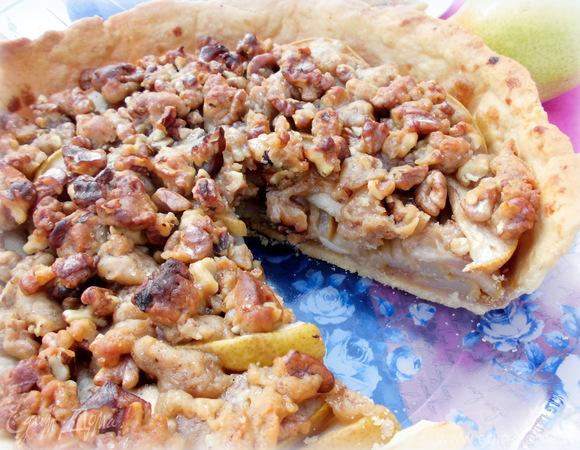 Грушевый пирог с ароматной крошкой