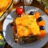 Мусака из блинчиков с сырами Джюгас
