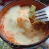 Куриное рагу с зелеными овощами и сырной крышечкой