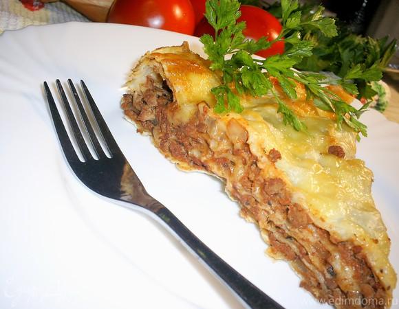 Вкусная и быстрая лазанья на лаваше