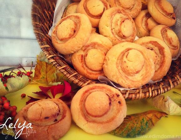 Печенье на майонезе «Шампиньоны»