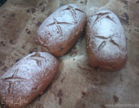 Ржано-Пшеничный хлеб с Орехом