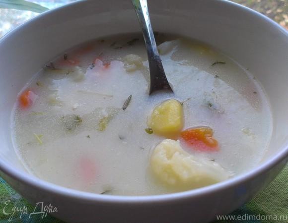 Сырно-сливочный суп с цветной капустой