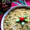 Овощи под сырной крошкой