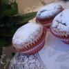Творожные кексы с заварным ванильным кремом