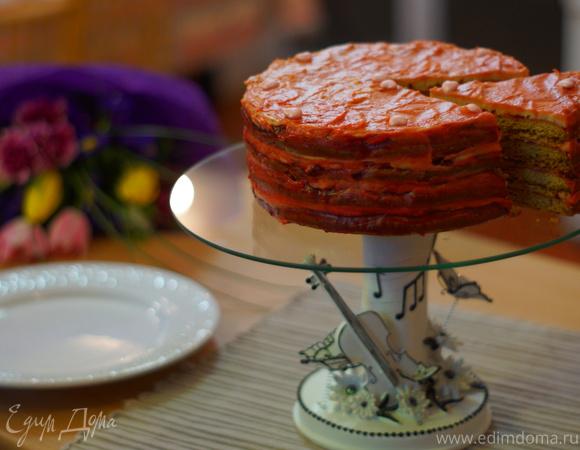 """Барбарисовый торт для команды """"Едим Дома!"""""""