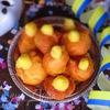 Заварные пончики с апельсиновым кремом