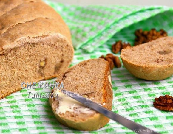 Ароматный хлебец на кефире с грецкими орехами