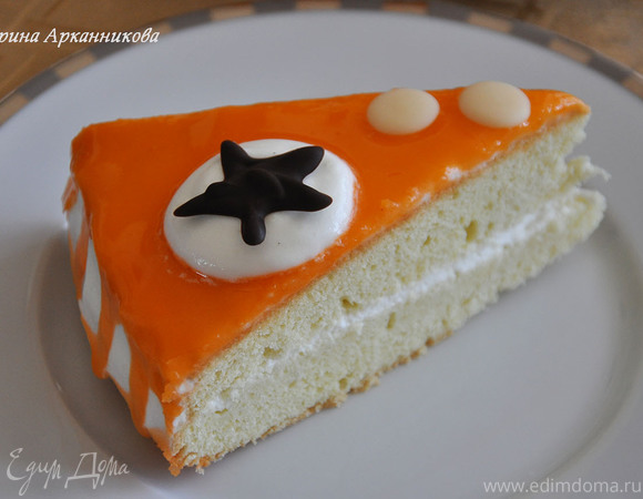 Нежный торт с цитрусовой глазурью